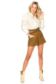 Copenhagen Muse |  Broderie blouse with puff sleeves Ultra | natural  | Picture 3