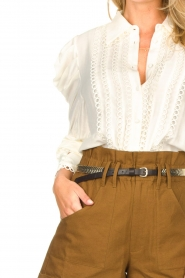 Copenhagen Muse |  Broderie blouse with puff sleeves Ultra | natural  | Picture 8