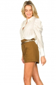 Copenhagen Muse |  Broderie blouse with puff sleeves Ultra | natural  | Picture 6