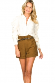Copenhagen Muse |  Broderie blouse with puff sleeves Ultra | natural  | Picture 4