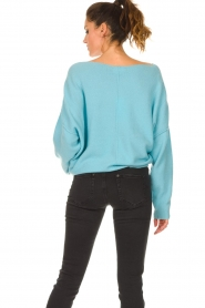 American Vintage |  Knitted sweater Damsville | blue  | Picture 7