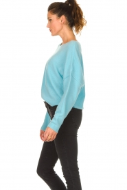 American Vintage |  Knitted sweater Damsville | blue  | Picture 6