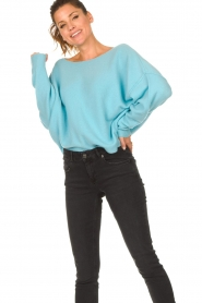 American Vintage |  Knitted sweater Damsville | blue  | Picture 4