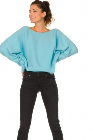 American Vintage |  Knitted sweater Damsville | blue  | Picture 2