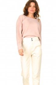 American Vintage |  Knitted sweater Damsville | pink  | Picture 5