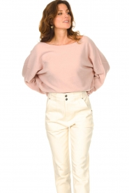American Vintage |  Knitted sweater Damsville | pink  | Picture 6