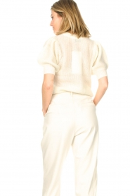 Copenhagen Muse |  Knitted top with puff sleeves Diva | white  | Picture 7