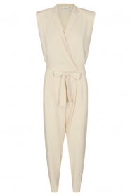 Copenhagen Muse |  Jumpsuit with tie waist Debli | white  | Picture 1