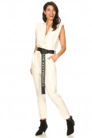 Copenhagen Muse |  Jumpsuit with tie waist Debli | white  | Picture 3