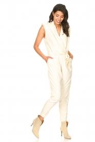 Copenhagen Muse |  Jumpsuit with tie waist Debli | white  | Picture 6