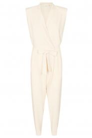 Copenhagen Muse |  Jumpsuit with waistbelt Bliz | white  | Picture 1