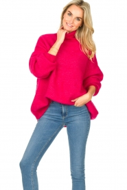 American Vintage |  Oversized knitted sweater Zabidoo | fuchsia  | Picture 2