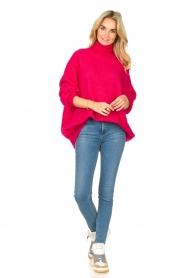 American Vintage |  Oversized knitted sweater Zabidoo | fuchsia  | Picture 3