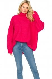 American Vintage |  Oversized knitted sweater Zabidoo | fuchsia  | Picture 5