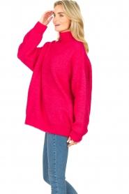 American Vintage |  Oversized knitted sweater Zabidoo | fuchsia  | Picture 6