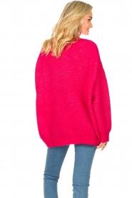 American Vintage |  Oversized knitted sweater Zabidoo | fuchsia  | Picture 7