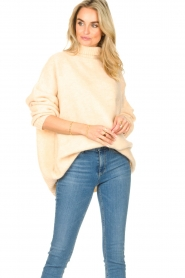 American Vintage |  Oversized knitted sweater Zabidoo | natural  | Picture 5