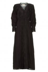 Copenhagen Muse |  Broderie maxi dress Ultra | black  | Picture 1