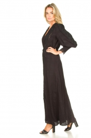 Copenhagen Muse |  Broderie maxi dress Ultra | black  | Picture 5
