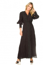 Copenhagen Muse |  Broderie maxi dress Ultra | black  | Picture 4