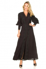 Copenhagen Muse |  Broderie maxi dress Ultra | black  | Picture 3