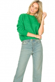American Vintage |  Knitted sweater Zabidoo | bright green  | Picture 5