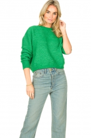 American Vintage |  Knitted sweater Zabidoo | bright green  | Picture 2