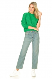 American Vintage |  Knitted sweater Zabidoo | bright green  | Picture 3