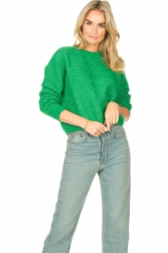 American Vintage |  Knitted sweater Zabidoo | bright green  | Picture 4