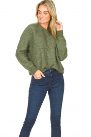 American Vintage |  Knitted sweater Zabidoo | green  | Picture 2