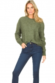 American Vintage |  Knitted sweater Zabidoo | green  | Picture 4