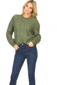 American Vintage |  Knitted sweater Zabidoo | green  | Picture 5