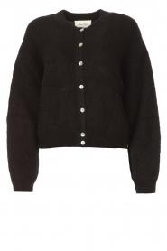 American Vintage |  Knitted cardigan Zabidoo | black  | Picture 1