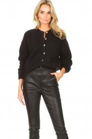 American Vintage |  Knitted cardigan Zabidoo | black  | Picture 2