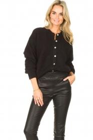 American Vintage |  Knitted cardigan Zabidoo | black  | Picture 4