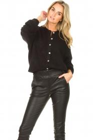 American Vintage |  Knitted cardigan Zabidoo | black  | Picture 5