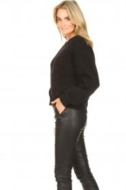American Vintage |  Knitted cardigan Zabidoo | black  | Picture 6