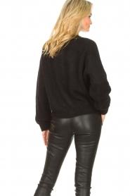 American Vintage |  Knitted cardigan Zabidoo | black  | Picture 7
