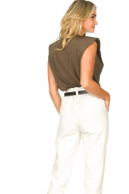 Copenhagen Muse |  Sleeveless top with shoulder pads Nat | brown  | Picture 7