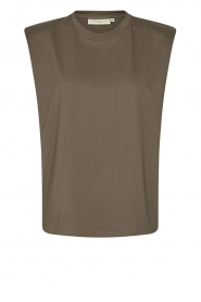 Copenhagen Muse |  Sleeveless top with shoulder pads Nat | brown  | Picture 1