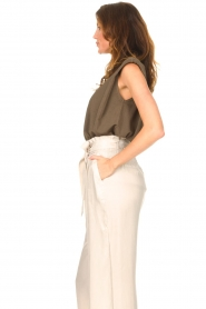 Copenhagen Muse |  Sleeveless top with shoulder pads Nat | brown  | Picture 5