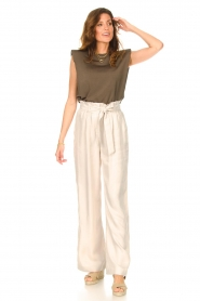 Copenhagen Muse |  Sleeveless top with shoulder pads Nat | brown  | Picture 3
