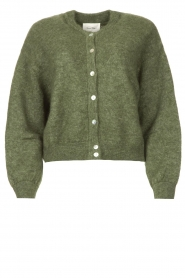 American Vintage |  Knitted cardigan Zabidoo | green  | Picture 1