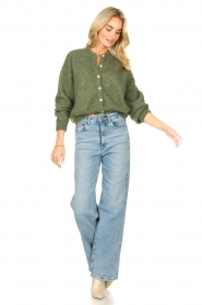 American Vintage |  Knitted cardigan Zabidoo | green  | Picture 3