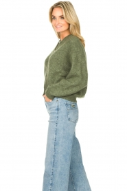 American Vintage |  Knitted cardigan Zabidoo | green  | Picture 5