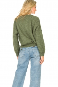 American Vintage |  Knitted cardigan Zabidoo | green  | Picture 6