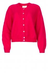 American Vintage |  Knitted cardigan Zabidoo | fuchsia  | Picture 1