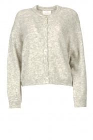 American Vintage |  Knitted cardigan Zabidoo | grey  | Picture 1