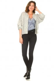 American Vintage |  Knitted cardigan Zabidoo | grey  | Picture 3