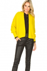 American Vintage |  Knitted cardigan East | yellow  | Picture 4